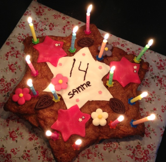 Sanne 14 taart