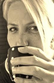 met koffie mok